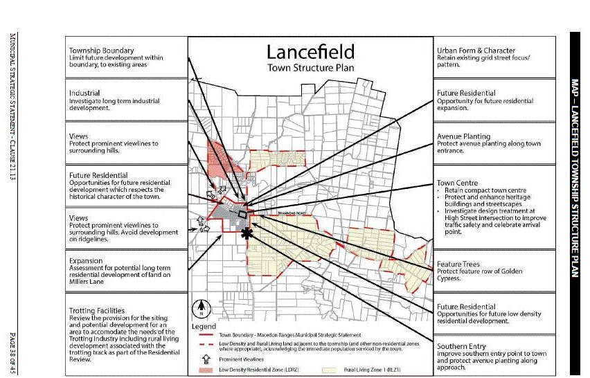 Lancefield structure map c84 exh 2013 note broken red line is the settlement strategys study area including rural living zone 1 40ha areas stretching from the cobaws to the boundary with ccuart Image collections